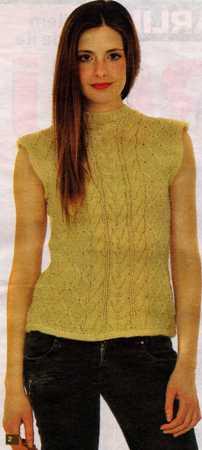 saç örgülü kolsuz bluz yapımı