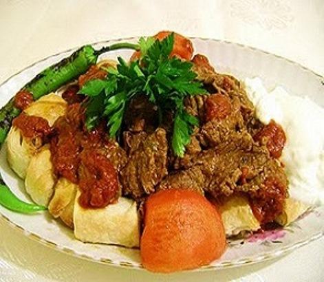 salatalık soslu baharatlı kebab