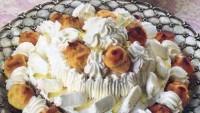 Şantili ve Vişne Aromalı Pasta