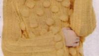 Sarı Nohut Modelli Örgü Kazak