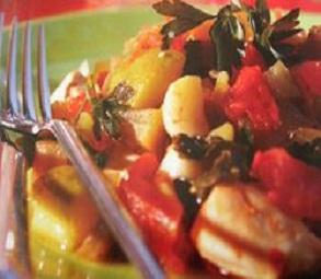Sebzeli Tavuk kebabı