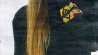 Siyah Boğazlı Uzun Kollu Kemerli Kazak Modeli