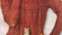 Uzun Kollu Fileli Bayan Hırka Modeli