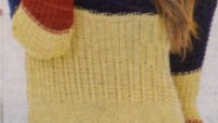 Uzun Kollu Renkli Örgü Elbise