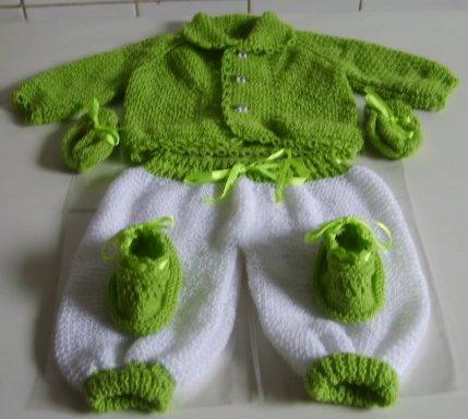 yeşil örgü bebek takım çeşitleri 2011