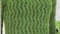Yeşil Boğazlı Uzun Kollu File Kazak