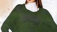 Yeşil File Fakir Yarasa Kol Bluz