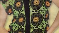 Yeşil Motifli Yelek Modeli