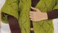 Yeşil Uzun Hırka Modeli