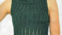 Yeşil Yazlık Örgü Bluz