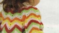 Zikzak Çizgili Uzun Kollu Bebek Yeleği